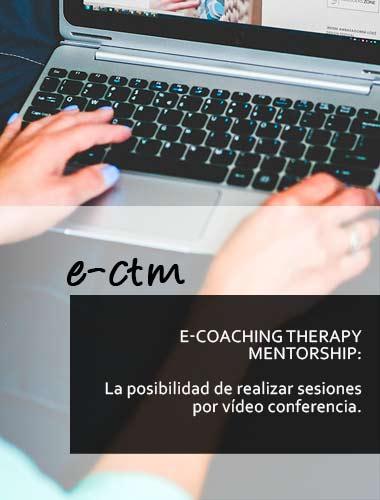 e-coaching therapy mentorship: la posibilidad de realizar sesiones por vídeo conferencia.